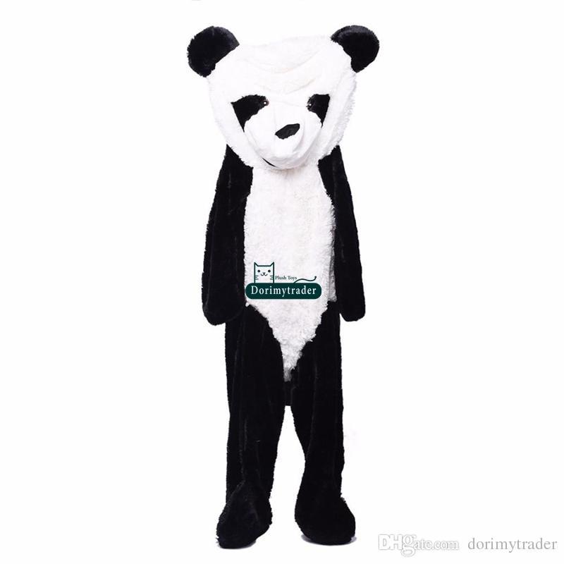Dorimytrader Giant Plush Animal Panda Bear Skin 180 cm Największy piękny miękki ogromna panda cena fabryczna wysokiej jakości dy61454