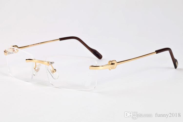 50eda97c92 Compre Lente De Color HD Hombres Gafas De Sol Sin Montura Últimas Marcas  Famosas Clásicas De La Moda Retro Gafas De Sol De Gran Tamaño Gafas De Sol  De ...
