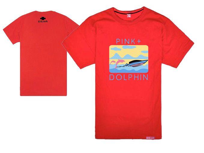 delfines rosados camisetas delfines remo de la cadera hopt-shirt moda rock cool camisetas y tops verano manga corta skate streetwear