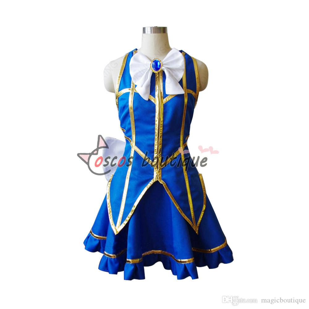 Fairy Tail Lucy Heartfilia Cosplay Costume Blue Short Dress Anime Cosplay  Cosplay Attire Costume For Cosplay From Magicboutique, $67.33| Dhgate.Com - Fairy Tail Lucy Heartfilia Cosplay Costume Blue Short Dress Anime