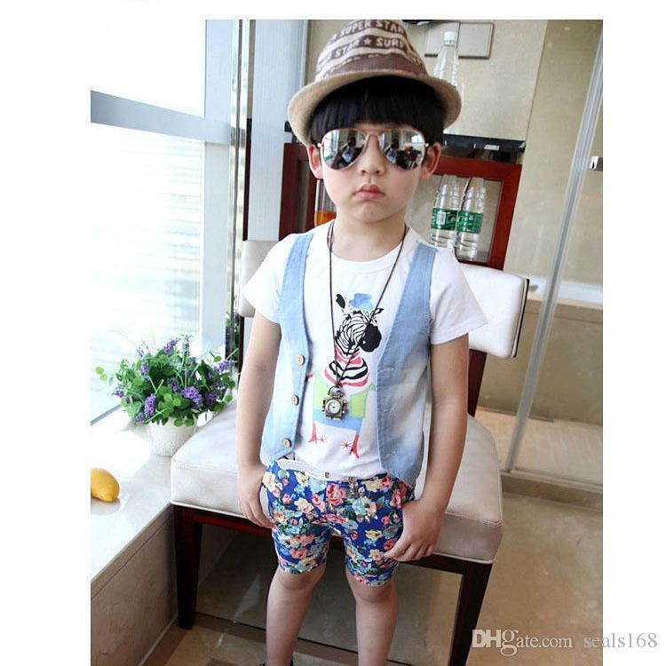 Çocuklar Erkek Çocuklar Aviator Sunglass Moda Bebek UV400 Metal Çerçeve Sunglass Plaj Güneş Koruyucu Doğum Hediye ZJ16-G03 Malzemeleri