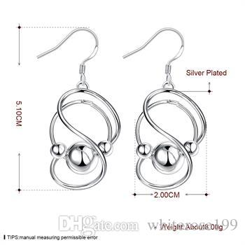 도매 - 최저 가격 크리스마스 선물 925 스털링 실버 패션 귀걸이 E071