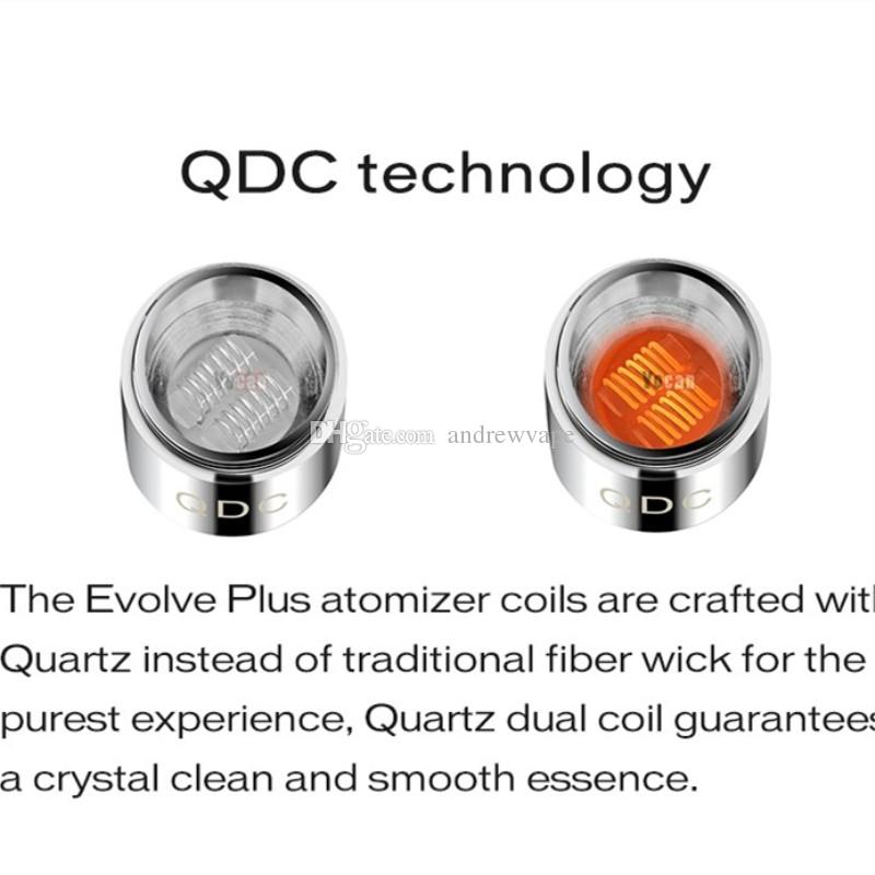 Authentische Yocan Ersatzspulen für Yocan Evolve Evolve Plus-Wax Vape Pen Evolve-D QDC Quarz Dual Coil