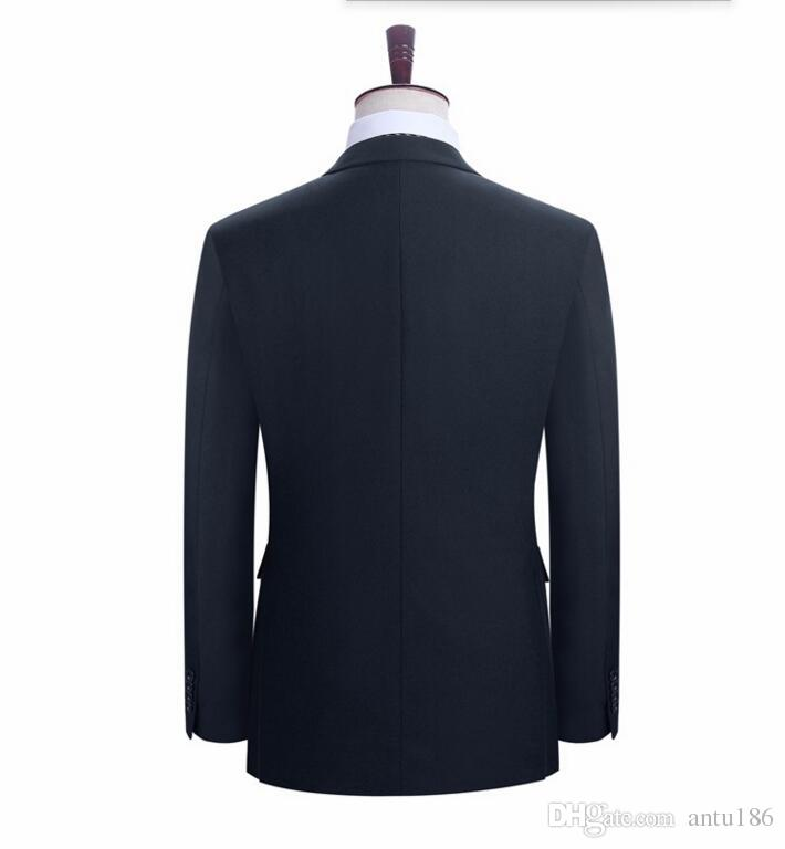 Yüksek kalite erkekler takım elbise moda damat düğün takımları bir düğme sağdıç takım elbise rahat takım elbise balo takımları ceket + pantolon