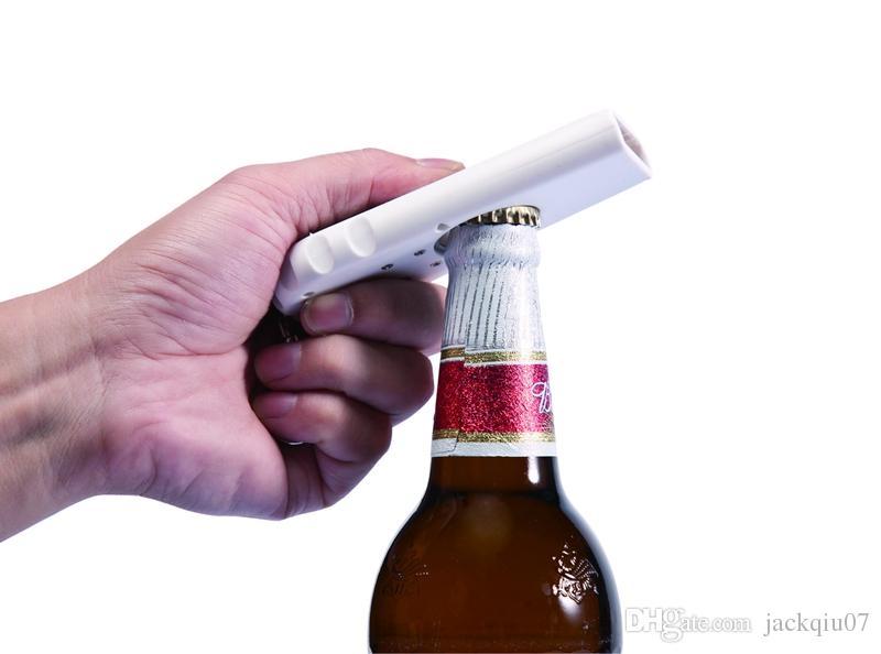 Alta Calidad Portátil Flying Cap Zappa Cerveza Bebida Abrebotellas Abridor de Apertura Cap Top Shooter Pistola Kichen Herramienta de Cocina