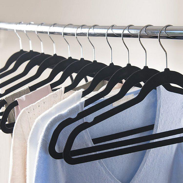 Hot Sale Flocked Suit Hanger with U Notches (20 pieces/ Lot)
