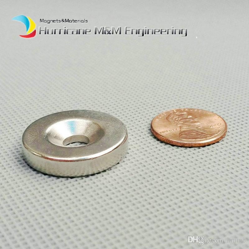 Diametro foro magnetico svasato foro 48x 25x5 +/- 0,1 mm Vite M5 spessa svasata foro al neodimio Magnete permanente a terre rare