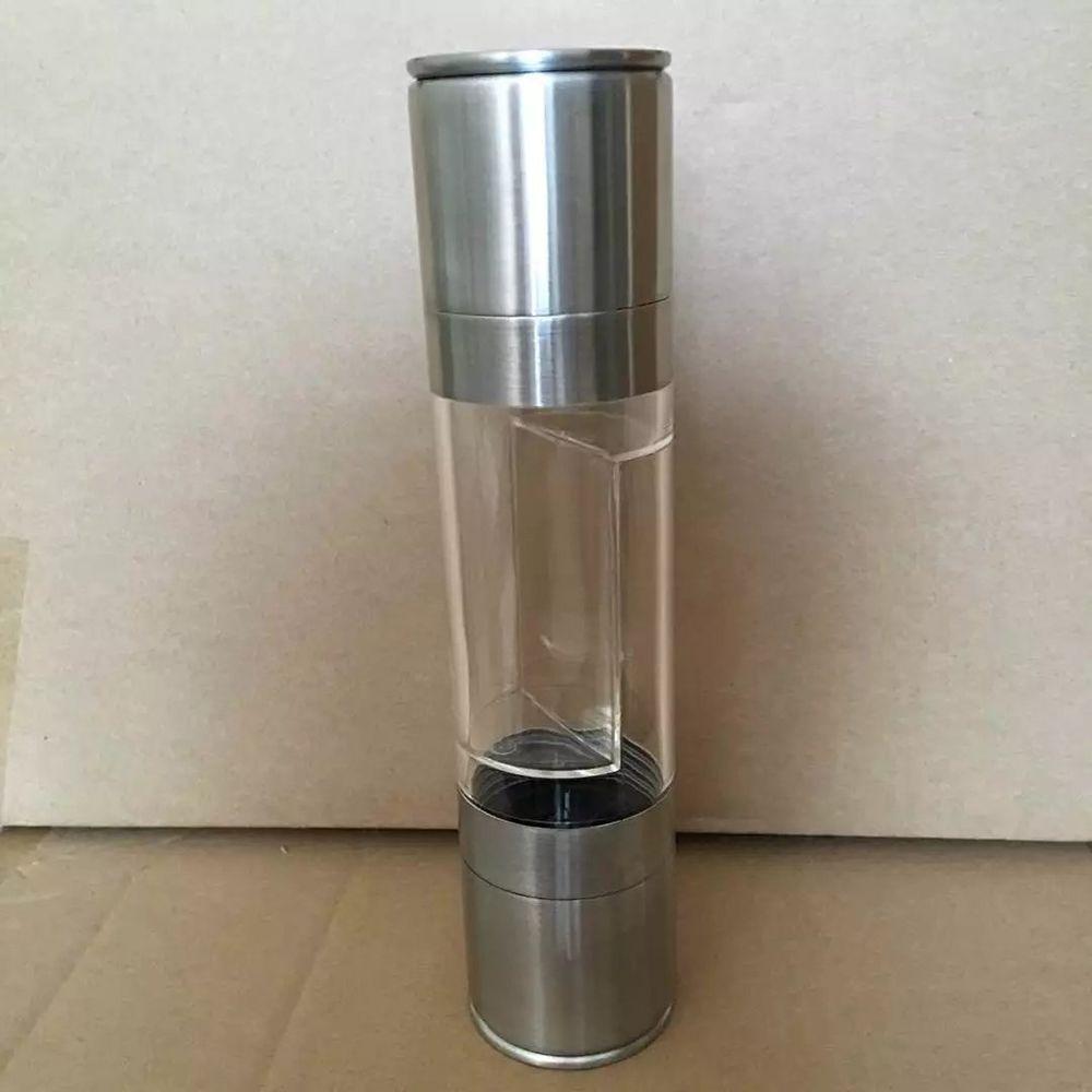 Moedor De Pimenta 2 em 1 Manual de Aço Inoxidável Moinho de Pimenta Sal Moedor de Especiarias Utensílios de Cozinha Acessórios para Cozinhar