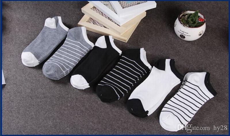 Nueva moda hombre algodón barco barco calcetín corto calcetines invisibles del verano transpirable suave cómodo calcetines hombre 5 par / lote