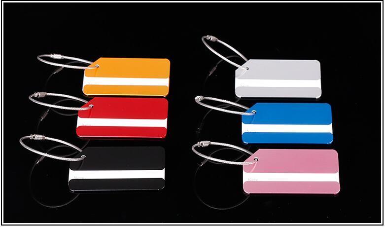 Aleación de aluminio de la etiqueta del equipaje del metal Colores múltiples Diversos tipos de tarjeta de identidad del viaje del plano de aire especial