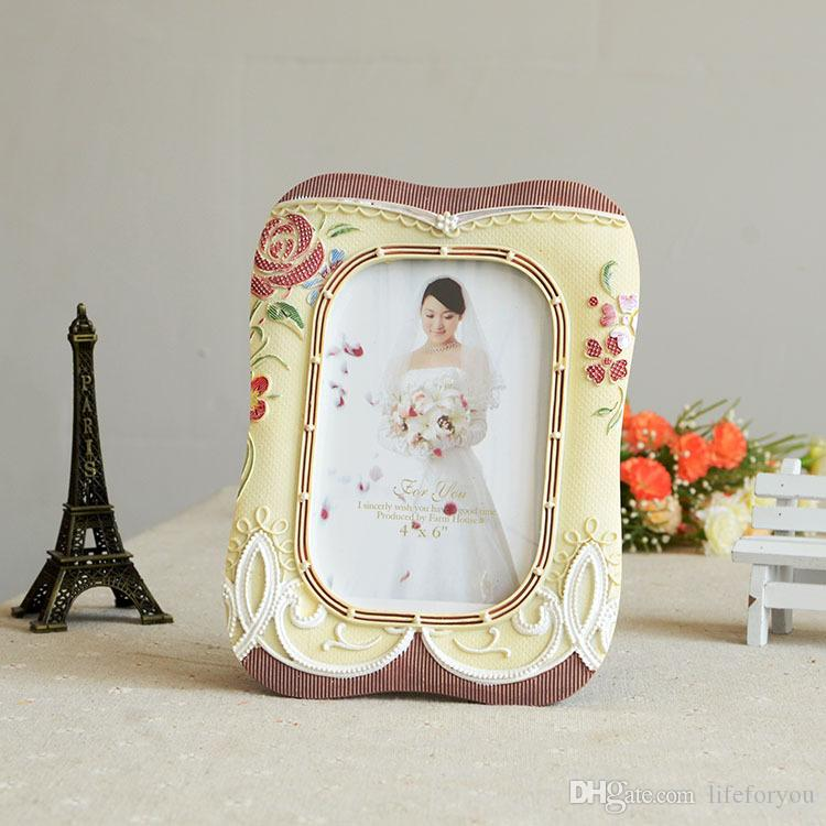 Wedding Photo Frames.Love Flower Resin And Wood Picture Frames Photo For Wedding Frames Gifts Tabletop Picture Frame Wedding Decotations