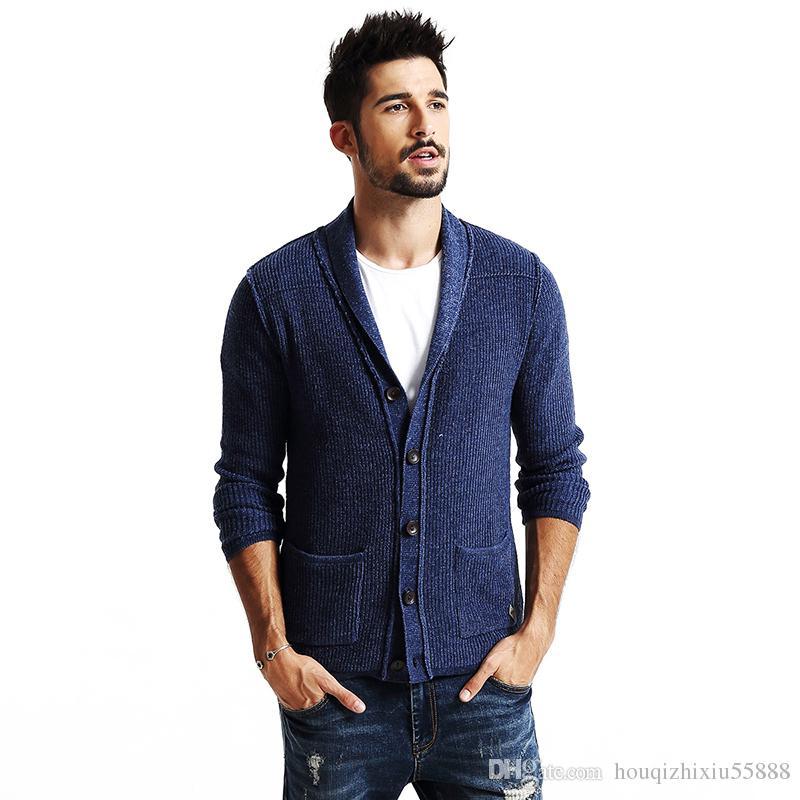 721c4d09c5b new autumn winter cardigan men fashion casual sweater knitwear high quality