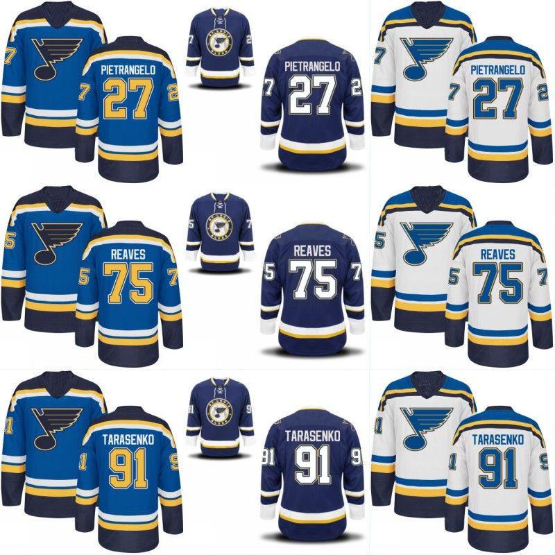 newest 3145f 3e402 Youth St. Louis Blues Jersey 55 Colton Parayko 75 Ryan Reaves 91 Vladimir  Tarasenko Custom Hockey Jerseys Any Name and Any Number