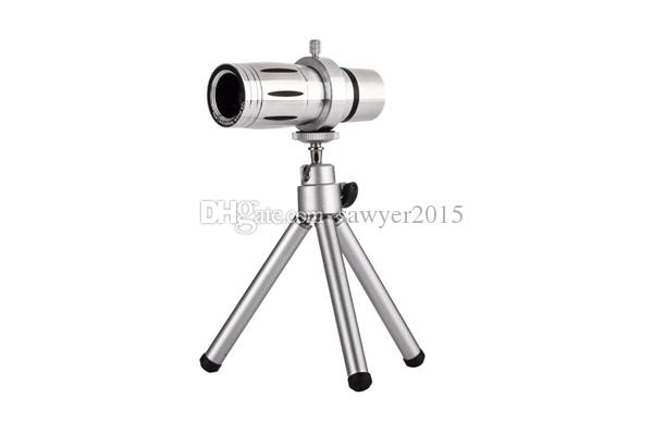 Universal 12X Zoom Phone Telescope Telephoto Camera Lens with tripod for iPhone Android Mobile Phones smartphone