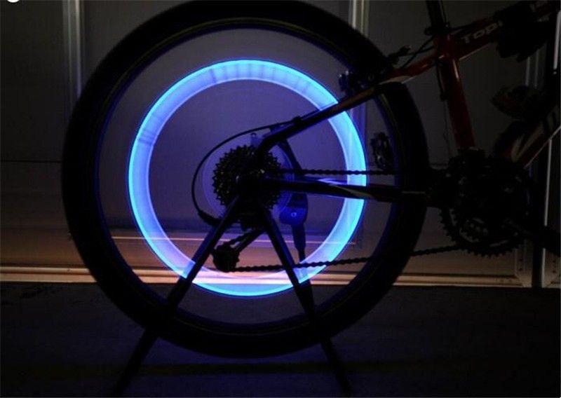 LED Flash Tyre Bike Wheel Valve Cap Light Car Bike Bicycle Motorbicycle Wheel Tire Lights Car Light Blue Green Red Yellow Light Colorful