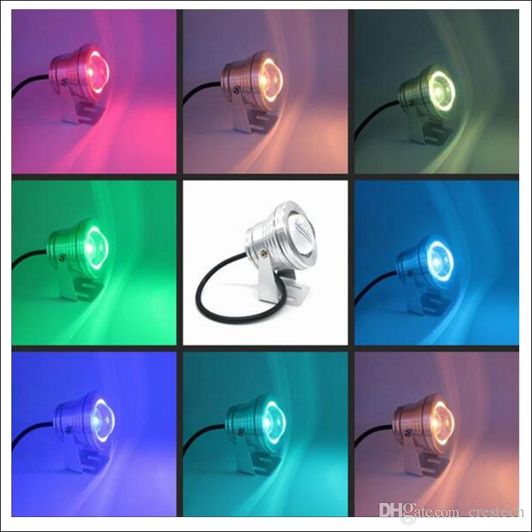 Lampada fontana plaze 10W LED luce subacquea luci a LED DC AC 12V 24 chiave telecomando IR waterr proof IP68