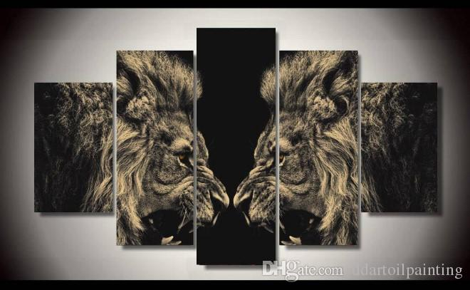 HD Print canvas art lion painting modern home decor wall art picture living room decor print Painting on canvas no frame
