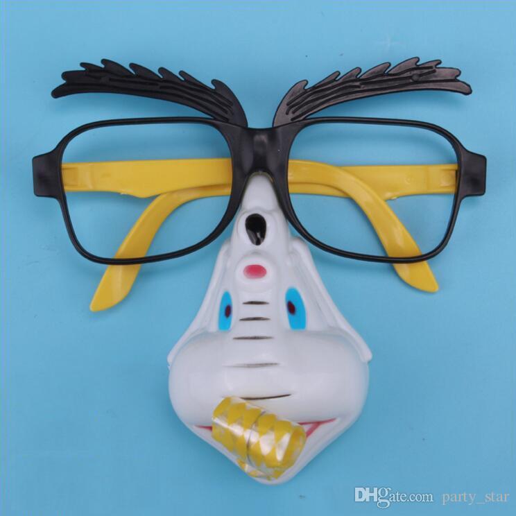 Unisex Parti Komik Dekorasyon Gözlük Yanlış Bir Kaşıntı ile Kaşları Yanlış Burun April Fools 'Day Joke Gözlük