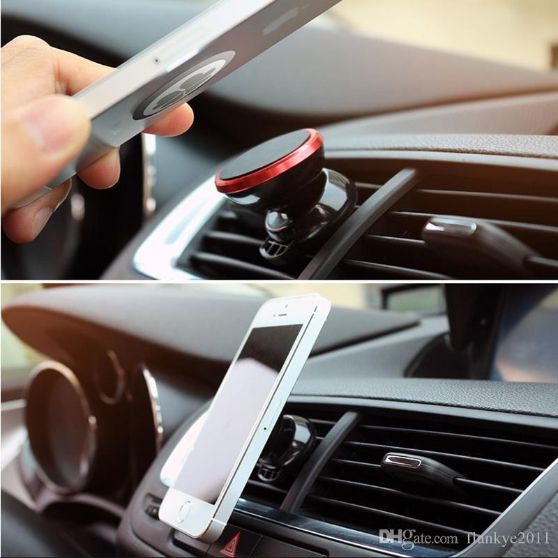 1 teile / los durch HKPost Universal gute magnetische handy autohalterung 360 grad-umdrehung handyhalter auto air vent metall magnet