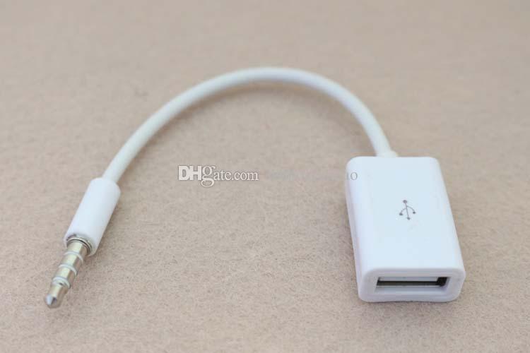 MP3 Sync 3,5 mm Stecker AUX Audio Jack Stecker auf USB 2.0 Buchse Konverter Kabel Adapter für U Disk