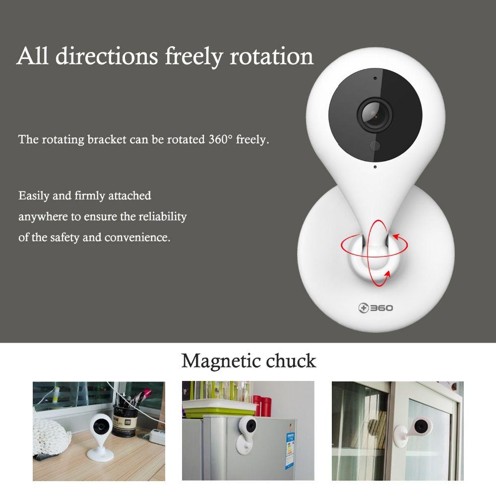 360 Home Camera 720P HD Mini IP Camera WiFi Smart Wireless Infrared Security Camera 110Degree Wide Angle 2-way Talk Night Vision
