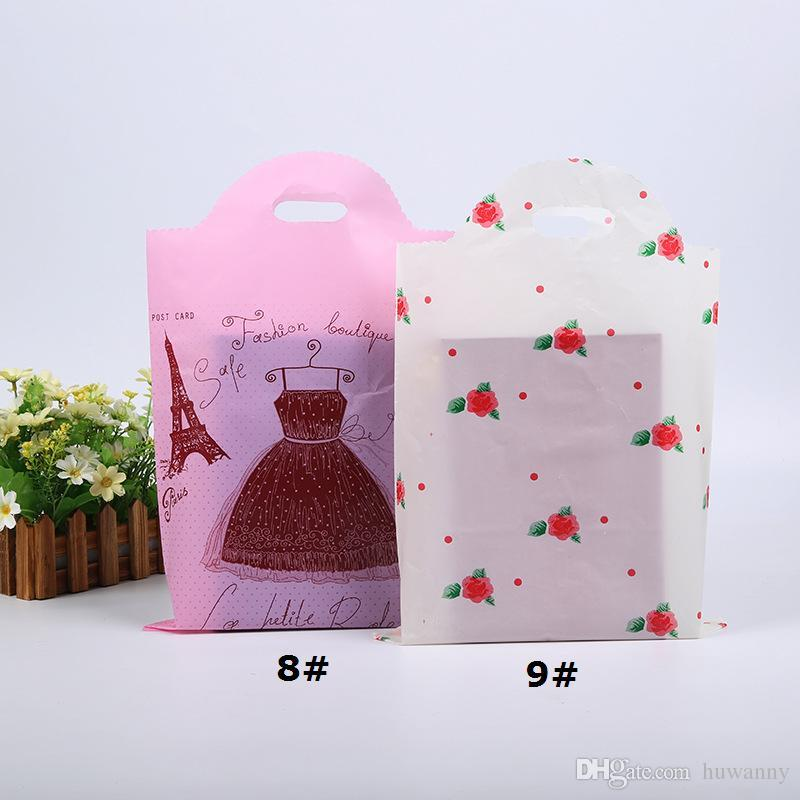 35*50 Plastic Gift Bags Thicher PVC Colorful Clothing Shopping Pouches Bags Packaging Wholesale Free Ship - 0033Pack