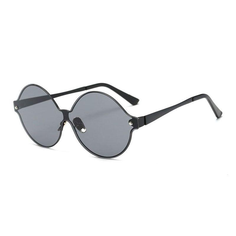 002f936a568 Flat Lens Round Metal Frame Sunglasses Men And Women Sunglasses ...
