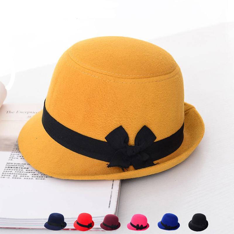 10df4c4b626e38 Wholesale Autumn Winter New Women Top Hats Faux Wool Fashion Lady ...