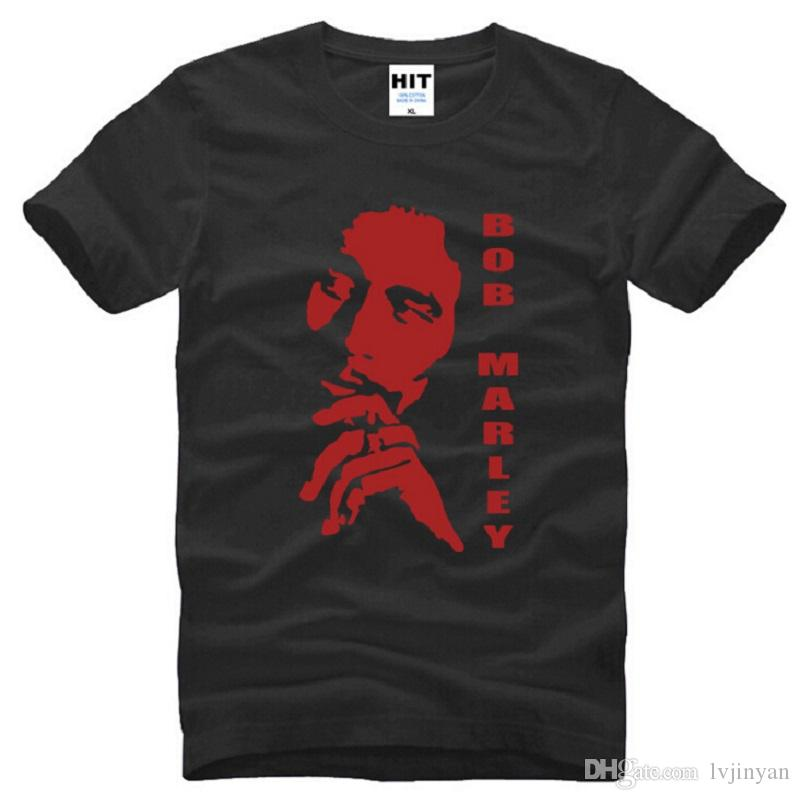 Nuevo Reggae Bob Marley Camisetas Hombre Algodón de manga corta impresa Hombres Camisetas Moda masculina Music Tops Camisetas Tamaño grande Estilo de verano