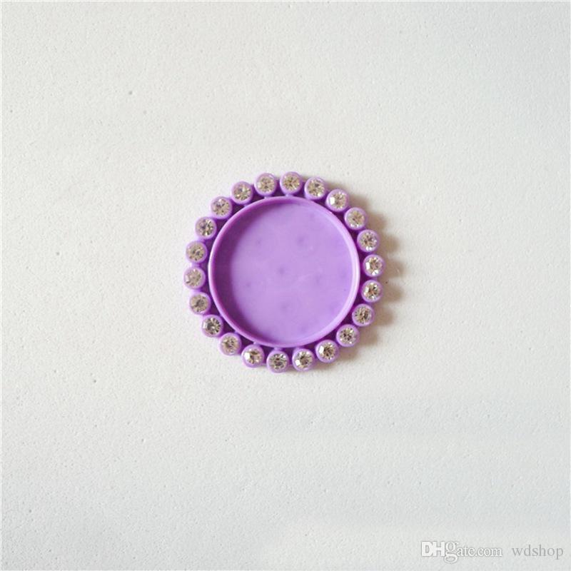 명확한 모조 다이아몬드를 가진 도매 혼합 색깔 수지 카메 루즈는 아이 머리 보석을위한 25mm 카보 숑에 어울리십시오 브로치 부속품