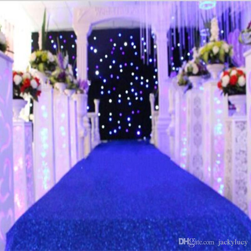 10 Mdark Blue Theme Wedding Decoration Pearlescent Carpet Aisle