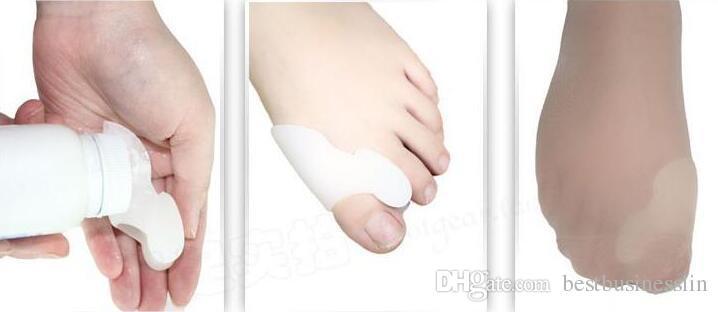 1 par / lote gel de silicona cómodo juanete férula separador del dedo gordo superpuesto esparcidor corrector de protección Hallux valgus masajeador de pies