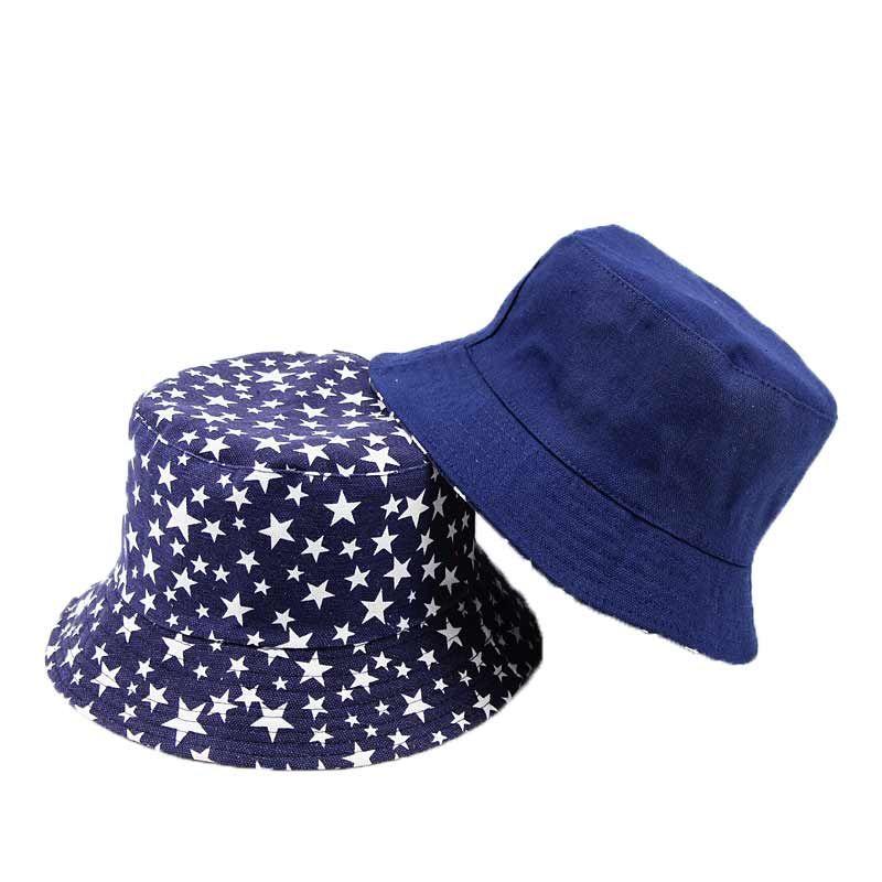 Unisex Adult Flat Reversible Bucket Hats Star Print Fisherman Caps Outdoors  Sun Protective Beach Hat For Woman Men Y001 UK 2019 From Gerry li d47ffe877cdf
