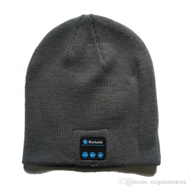 Bluetooth Hat Soft Warm knitted Beanie Cap Stereo wireless Headphone Headset Microphone handfree Music hats free DHL shipping
