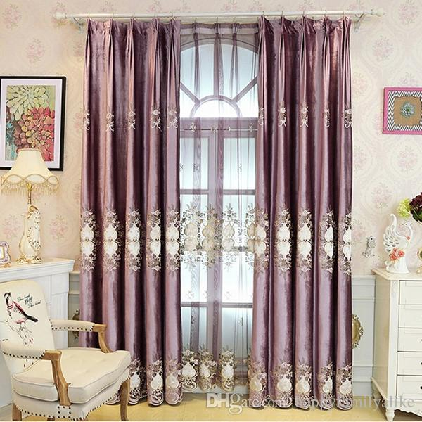 2017 Luxury Curtain Blackout Drapes Sweet Home Living Room Bedroom  Embroidery Thermal Drapes 42w/50w/72w 4 Panels Purple Color Wholesale From  ... Part 42