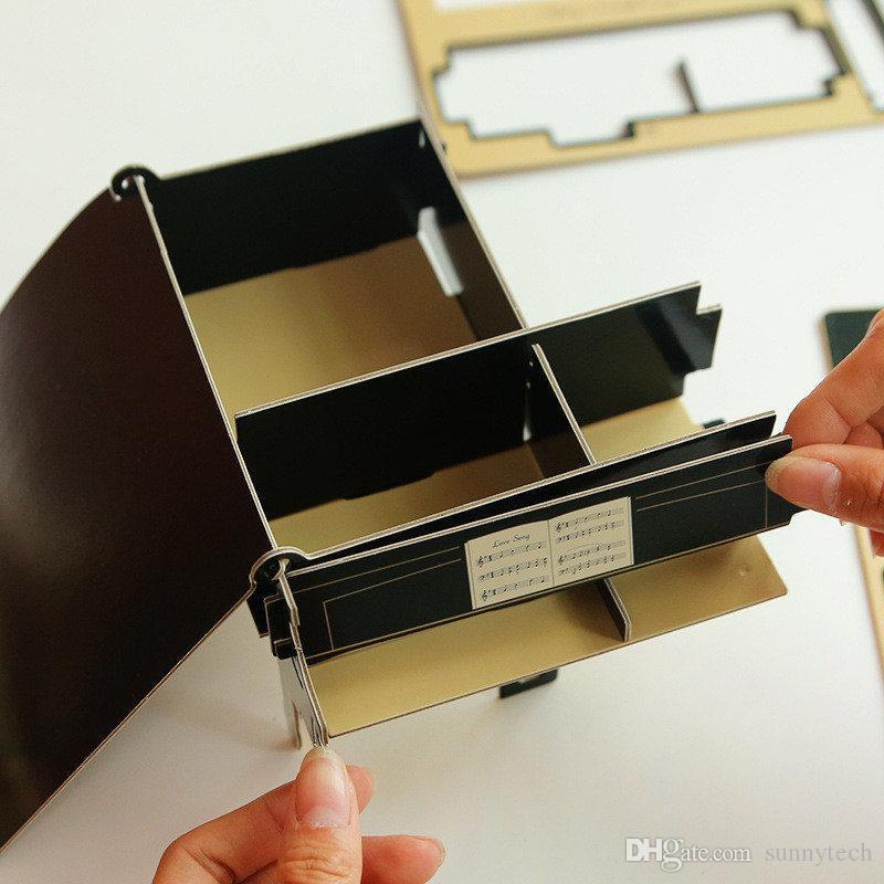 Caja de Almacenamiento de Escritorio de Papel de DIY creativo Lindo Titulares de Papelería de Oficina Casos de Lápiz Estante de Almacenamiento de Lápiz Accesorios de Escritorio Orangizer LZ0447