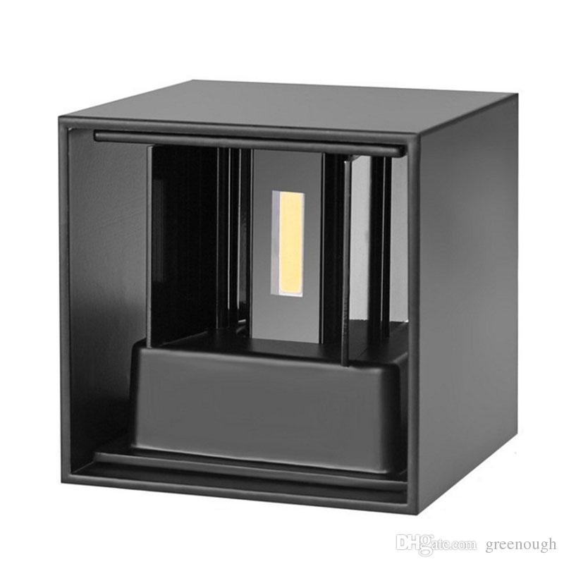 Su geçirmez LED Duvar Lambası 7 W 12 W Yukarı Ve Aşağı Dış Duvar Işık IP65 Sıva Üstü Küp Aydınlatma Bina Dekorasyon Için 85-265VAC