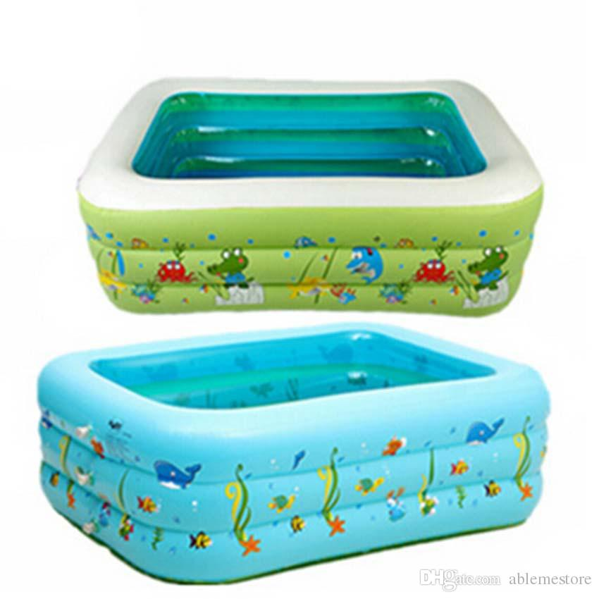 2018 outdoor portable chidren basin bathtub swimming pool summer inflatable paddling children for Portable swimming pools for kids