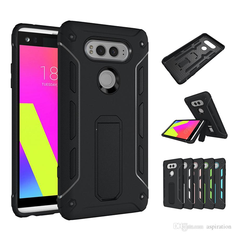 new product d92c7 2de08 Armor Case Cover for Moto G4 Plus / LG V20 G6 / Huawei Mate 9 for OnePlus 3  Hybrid Dual Layer Tough Shockproof Shell with Kickstand