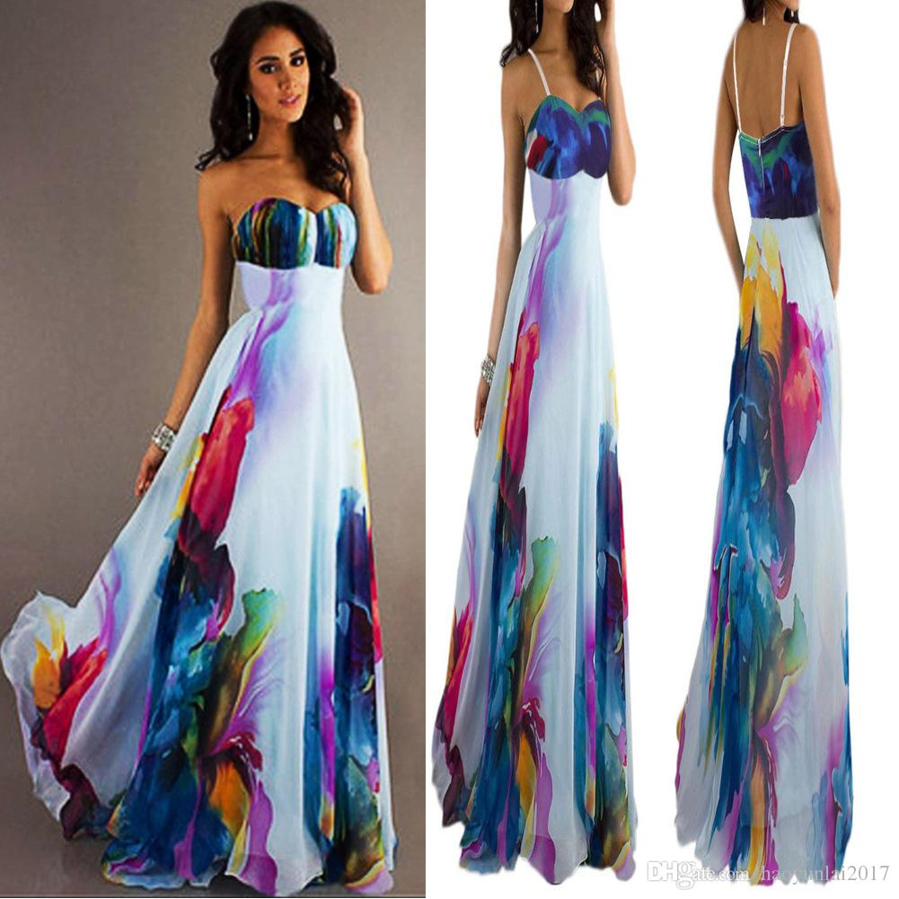 f10cfc5d65b517 2019 Vogue Sexy Women NEW Vintage Sleeveless Floral Long Maxi Dresses Party  Dress From Haoyunlai2017