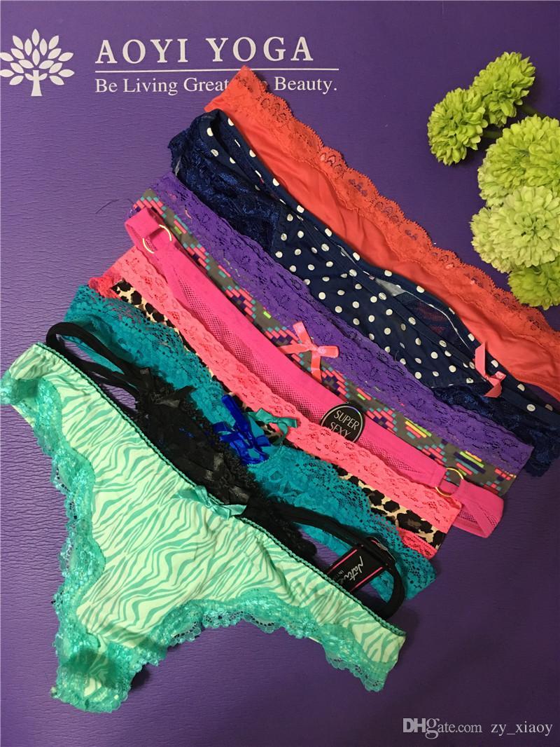 Cheapest G-String G V String Thong Wholesale Women Sexy Lingerie Lace Panties T Back Underwear Hot Sale Secret Braga Tanga ZA