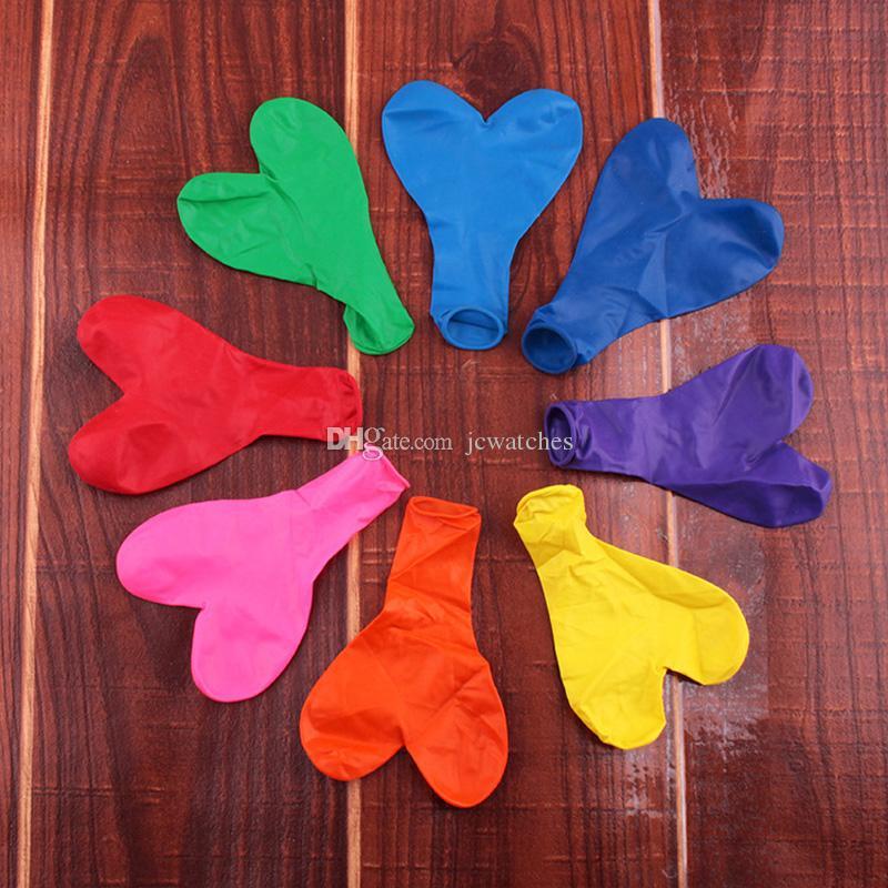 100 unids / lote 12 Pulgadas 2.2g Amor Corazón Globos de Látex Inflable Redondo Globo de Aire Día de San Valentín Fiesta de Cumpleaños Decoración de La Boda