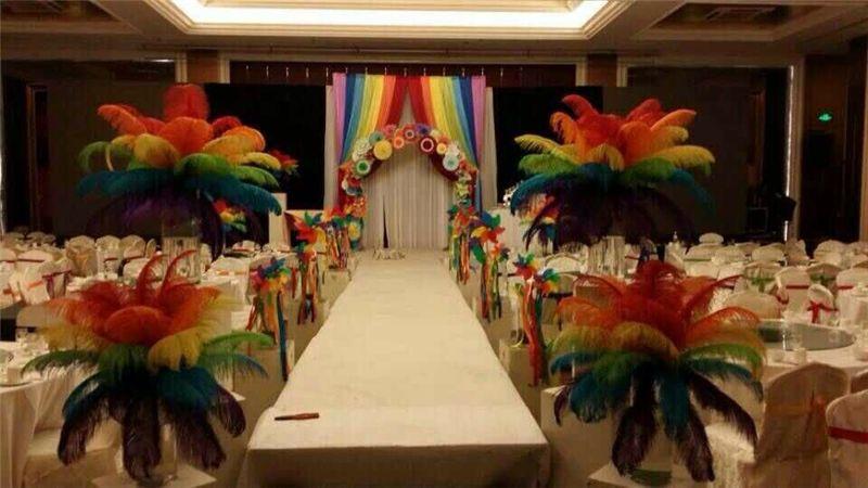 Pluma pluma para la boda centro de mesa Lady Banquet Dance Elegancia pluma nueva Natural Birds Pluma alta calidad grande fino plumaje blanco