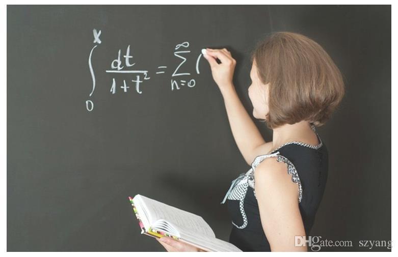 100 Pçs / lote Frete Grátis, 45 * 200 CM Diy Whiteboard De Vinil, Blackboard Adesivos Removíveis Wall Greenboard Adesivo na Parede Para Crianças