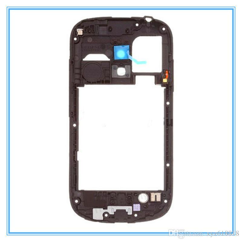 Blanc Noir Original Nouveau Moyen Cadre Cadre Lunette Boîtier Pour Samsung Galaxy S3 mini i8190 Haute Qualité Nouveau Livraison Gratuite Vente Entière Vente Au Détail