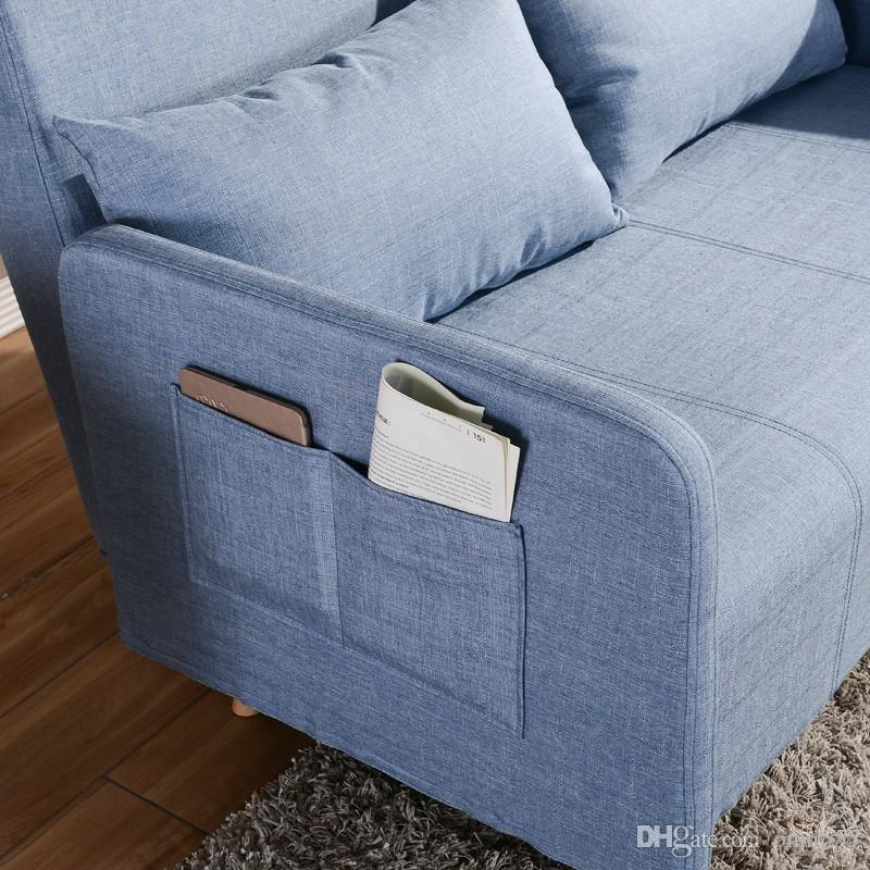 2018 Brand New Modern Design Blue Linen Fabric Sofa Bed With Steel Frame  Linen Cover Quality Rebound Foam Armrests F01d2 From Onni555, $120.61 |  Dhgate.Com