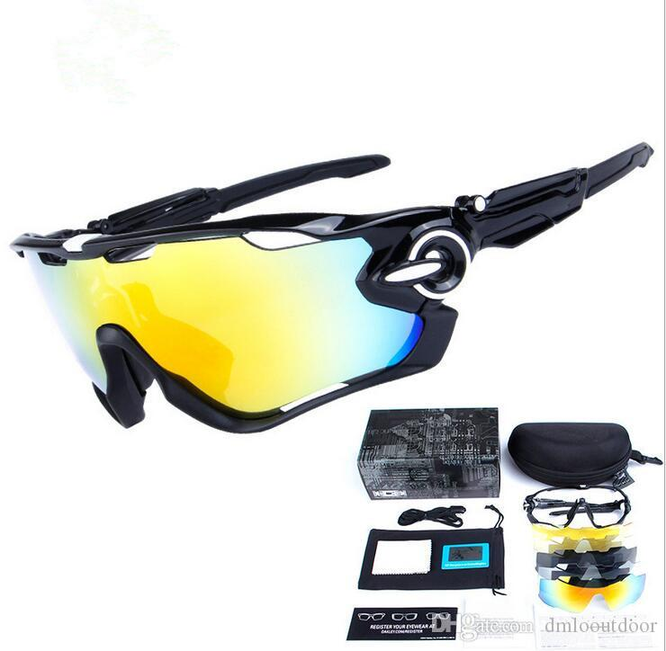 1a5e144d56 2019 Fashion Cycling Glasses Sports Sunglasses Cycling Sunglasses Polarized  Women Men Interchangeable 5 Lens Goggles Bicycle Glasses With Box From ...