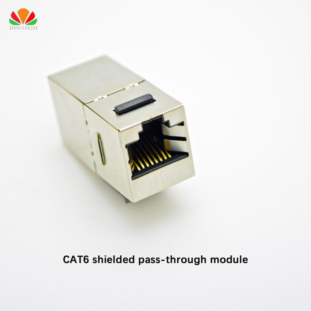 Wholesale Metal Shielded Cat6 Pass Through Network Module Gold Rj45 Socket Wiring Guide Plated Connector Information Cable Adapter Keystone Jack Computer Connectors And