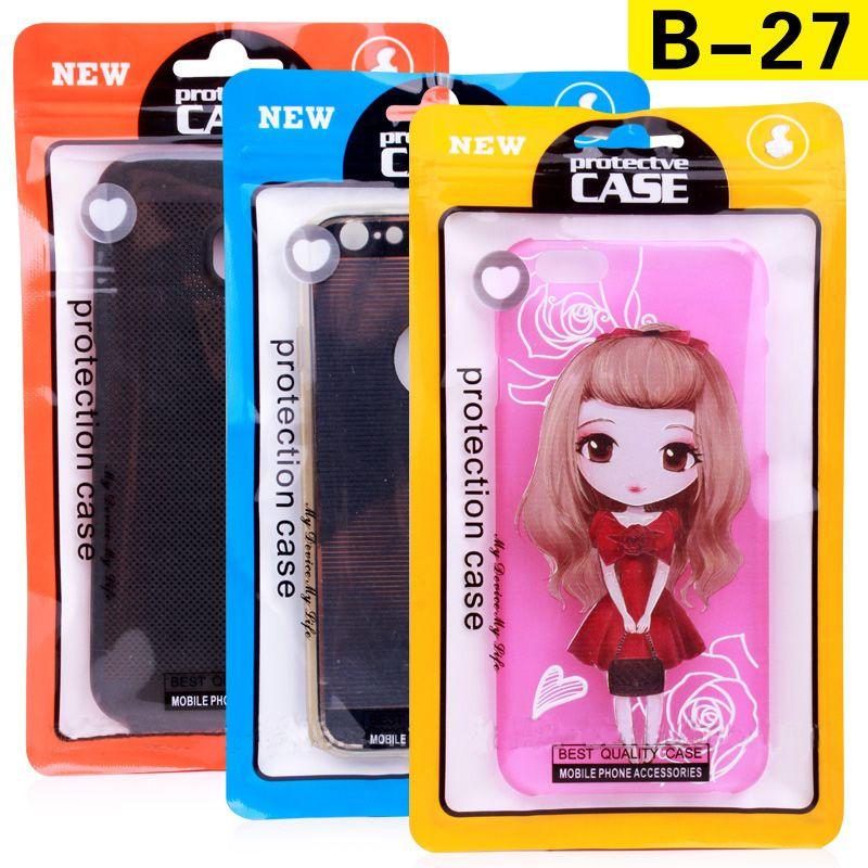 Großhandelsplanstic-Verpackungs-Beutel-Telefon-Kasten für iPhone 7 7 plus Universalreißverschluss-Verschluss-Beutel für iPhone 5 6 6 plus Verpackung