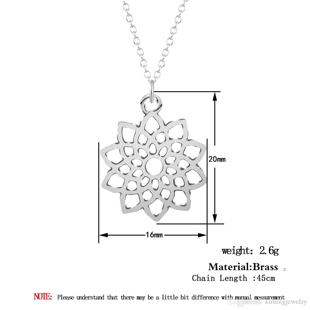 / Vente Chaude Marque Design Style Occidental Multicouche Pendentifs Or Argent Fleurs Creuses Collier Bijoux Déclaration